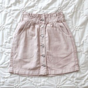 American Eagle Button up Blush Pink Skirt
